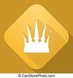 uggia, vettore, corona, lungo, icona