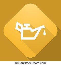 uggia, vettore, lubricator, lungo, icona