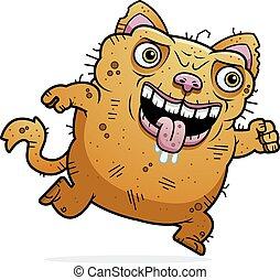 Ugly Cat Running