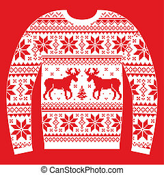 Ugly Christmas jumper or sweater wi - Traditional Xmas...
