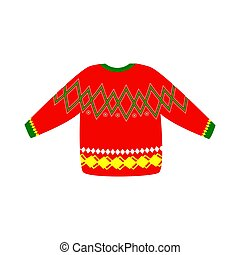 Ugly Christmas sweater icon