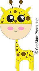Ugly giraffe, vector or color illustration.