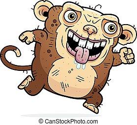 Ugly Monkey Running