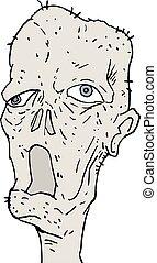 ugly monster man terror face