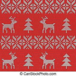 Ugly sweater Background - Vector Illustration of Ugly...