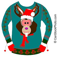 ugly sweater for christmas - ugly christmas sweater over...