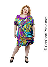 ugly woman over white background - ugly woman. Isolated over...