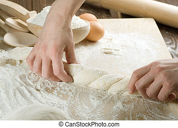 ugniatanie, ciasto