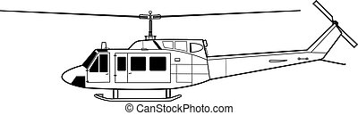 UH-1 - High detailed vector illustration of a modern ...