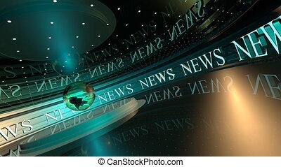 uhd, achtergronden, loopable, uitzenden, video, nieuws