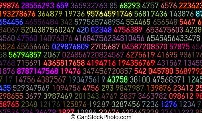 uhd, couleur, screen., jeûne, couleurs, nombres, ...