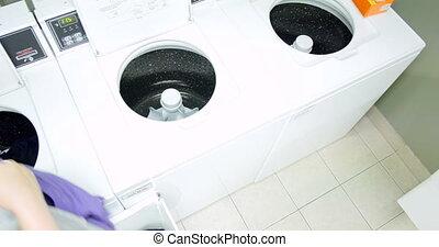 uhd, femme, jeune, 4k, laundry.