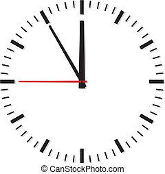 Uhr auf hintergrund