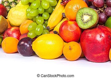 uhyre, gruppe, i, friske frugter