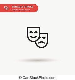 ui, シンボル, icon., プロジェクト, 色, ベクトル, デザイン, 劇場, 網, 単純である, editable, マスク, アイコン, あなたの, モビール, 現代, テンプレート, element., 完全, ビジネス 実例, pictogram, stroke.