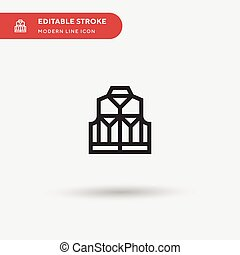 ui, 符號, icon., 項目, 顏色, 矢量, 設計, 网, 簡單, editable, 圖象, 背心, 你, 流動, 現代, 樣板, element., 完美, 商業描述, pictogram, stroke.