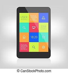 ui colorful design for mobile devices
