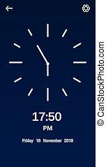 UI Design Clock.
