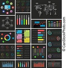 ui, elementos, de, infographics, collection., vector, illustration.