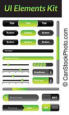 ui, elementos, equipamento, 1, (green)