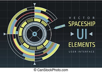 UI hud infographic interface web elements. Futuristic space...