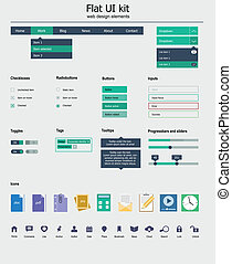 UI kit is a of beautiful components with icon set - UI kit...