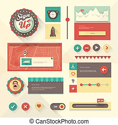 UI set - Vector set of various elements used for User...