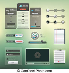 UI set - Vector set of various elements used for User ...