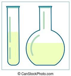 ui., solution., ton, illustration, appareil, toile, app, isolé, laboratoire, vecteur, plat, logo, blanc