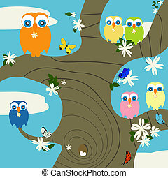 uilen, nest