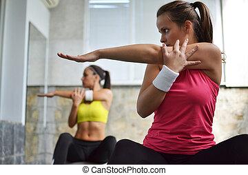 uit, studio, werkende , fitness