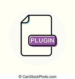 uitbreiding, plugin, formaat, kleur, bestand, lijn, pictogram