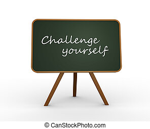 uitdaging, je