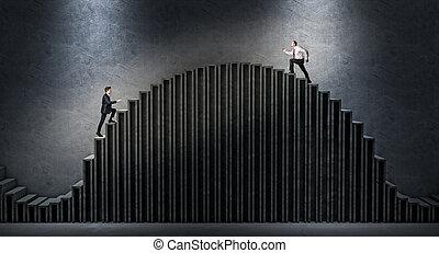 uitdaging, zakenmens