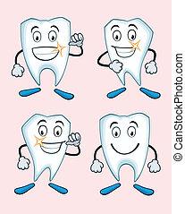 uitdrukkingen, gevarieerd, teeth