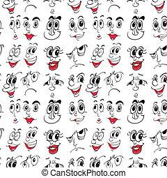 uitdrukkingen, gezichts