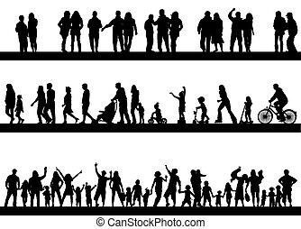 uitgeven, actief, mensen, tijd