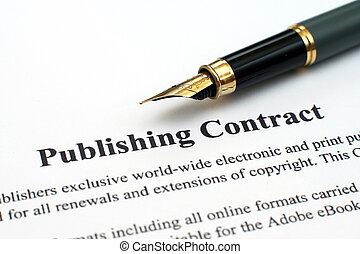uitgevers-, contracteren
