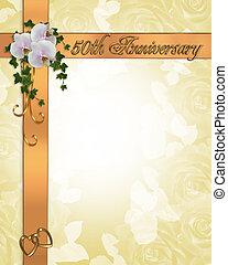 uitnodiging, 50th, jubileum