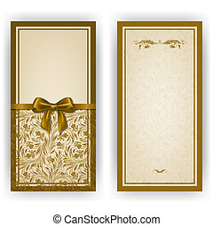 uitnodiging, elegant, vector, luxe, mal, kaart