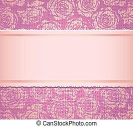 uitnodiging, roze, kaart