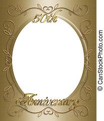 uitnodiging, trouwfeest, 50th