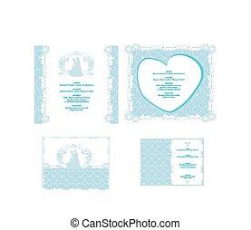 uitnodigingskaart, trouwfeest, floral, elements.