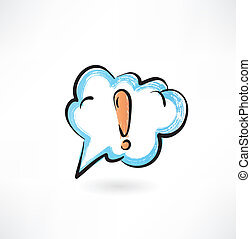 uitroep, wolk, mark