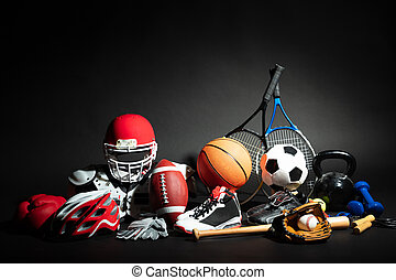 uitrusting, close-up, gelul, sportende