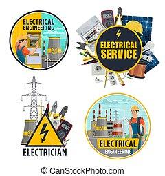 uitrusting, energie industrie, stroom