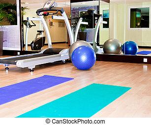 uitrusting, gym apparaat