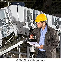 uitrusting, industriebedrijven, controleren
