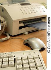 uitrusting, kantoor, includin