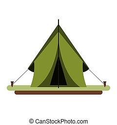 uitrusting, tentje, kamperen, activiteiten